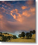 Clouds Over East Bay Hills Metal Print