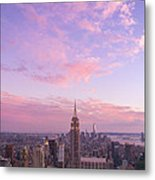 clouds over Empire State Metal Print