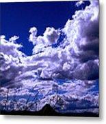 Clouds Over Gavilan Peak Metal Print