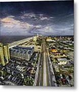 Clouds Over Gulf Shores Metal Print