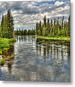 Clouds Over Henry's Fork Metal Print