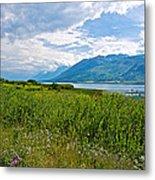 Clouds Over Jackson Lake In Grand Teton National Park-wyoming Metal Print