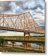 Clouds Over King Bridge Metal Print
