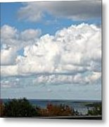 Clouds Over Lake Michigan Metal Print