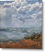 Clouds Over Lake Michigan Metal Print
