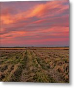 Clouds Over Landscape At Sunset Metal Print