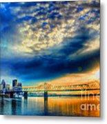 Clouds Over Louisville Metal Print