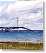 Clouds Over Mackinaw Metal Print