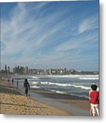 Clouds Over Manly Beach Metal Print