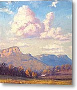 Clouds Over Megalong Metal Print