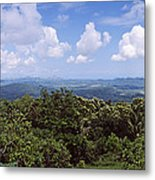 Clouds Over Mountains, Flores Island Metal Print