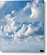 Clouds Over New Mexico Metal Print
