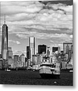 Clouds Over New York Metal Print