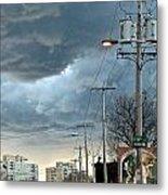 Clouds Over Philadelphia Metal Print