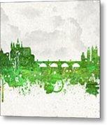 Clouds Over Prague Czech Republic Metal Print by Aged Pixel