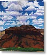 Clouds Over Red Mesa Metal Print