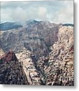Clouds Over Red Rock Metal Print