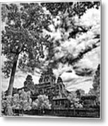 Clouds Over Temple In Siem Reap In Cambodia Metal Print
