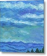 Clouds Over The Blue Ridge Metal Print