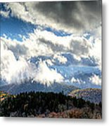 Clouds Over The Blue Ridge Mountains Metal Print
