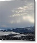 Clouds Over The Ground Metal Print