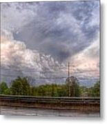 Clouds Over The Highway Metal Print