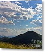 Clouds Over The Mountain Metal Print