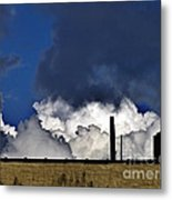 Clouds Over The Watertower Metal Print