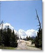 Clouds Over Thermal Area Metal Print