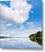 Clouds Reflected In Puget Sound Metal Print