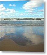 Clouds Reflecting Metal Print by Cim Paddock
