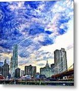 Clouds Van Gogh Metal Print