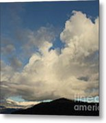Clouds With Arms Metal Print