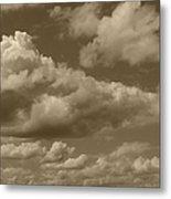 Cloudscape In Sepia Metal Print