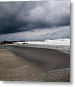 Cloudy Beach Day Metal Print