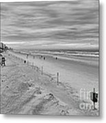 Cloudy Beach Morning Metal Print