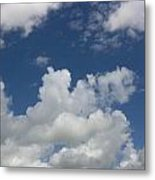 Cloudy Blue Sky Metal Print