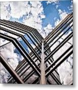 Cloudy Building Metal Print