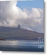 Cloudy Coast 1 Metal Print