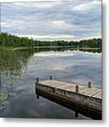 Cloudy Colored Water Metal Print