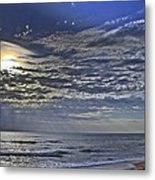 Cloudy Day At The Beach Metal Print