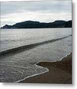 Cloudy Day By The Cliffs Metal Print