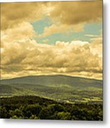 Cloudy Day In New Hampshire Metal Print