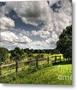 Cloudy Day In The Country Metal Print by Kaye Menner