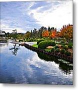 Cloudy Garden Reflections Metal Print