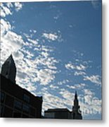 Cloudy In Cleveland Metal Print
