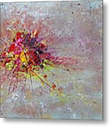 Cloudy Monday Abstract Painting Metal Print