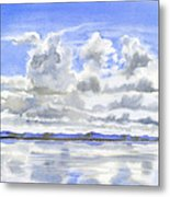 Cloudy Sky With Reflections Metal Print