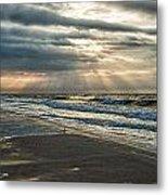 Cloudy Sunrise Metal Print by Michael Thomas