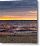 Cloudy Sunrise On Nauset Beach Metal Print
